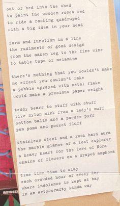 Punk Poet John Cooper Clarke's poem - 'Arts 'n' Crafts'
