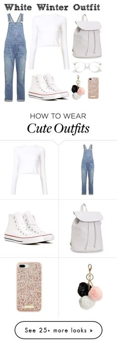 """Winter Cute Outfit 1"" by zabulencia on Polyvore featuring Current/Elliott, Proenza Schouler, Converse, Aéropostale, GUESS and Kate Spade"