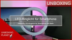 LED-Ringlicht für Smartphone - Unboxing Planet In China, Smartphone, Led, Video News, Planets, Tripod