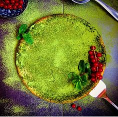#food #uk Healthy matcha cheesecake with red cranberries. by arrategomez https://twitter.com/buydianaboluk