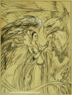 Queen and her Grifon by ekukanova on deviantART. Griffins have always been my favourite. Fantasy, Sketches, Art Drawings, Drawings, Fantasy Art, Illustration Art, Art, Beast Creature, Mythological Creatures