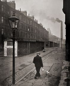 Charles Fenno Jacobs. Man with dog, Manchester,...  Undr