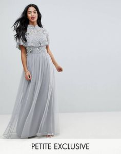 52aef8314c3e Frock And Frill Petite Premium Embellished Top High Neck Maxi Dress Frock  And Frill, Frill