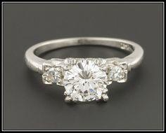 Vintage Engagement Ring | Diamond Engagement Ring | Vintage Diamond Ring | Vintage Wedding Ring | Platinum Engagement Ring affiliate