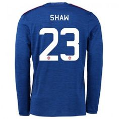 Manchester United Cup Away Shirt 2016 17 Long Sleeve with Shaw 23 pr Sports Online Shopping Manchester United, Luke Shaw, Jesse Lingard, Marcus Rashford, Sport Online, Cheap Online Shopping, Football Kits, The Unit, Long Sleeve
