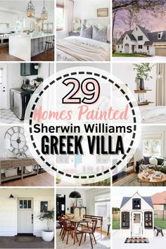 All About Sherwin Williams Greek Villa! See if this neutral paint is the right paint shade for your home! We'll compare it to similar shades, explore undertones, and see it in 29 REAL homes! #greekvilla #sherwinwilliams #paintcolor #paint #sherwinwilliamsgreekvilla