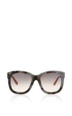 9c3e55d9b748 LINDA FARROW Grey Marble Sunglasses.  lindafarrow  sunglasses Linda Farrow