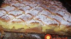 Vanilkový pudingáč s jablkami a poriadnou porciou krému!