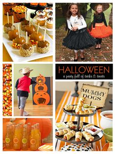 Halloween Kids Party treats, food and games