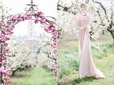 Blush Peony Wedding Arch and Chandelier