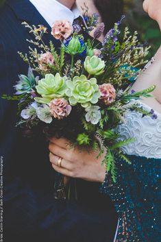 Wildflower Succulent Bridal Bouquet