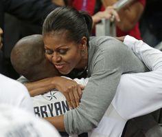 Michelle Obama and Kobe Bryant