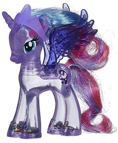 Pony My Little Rainbow Shimmer Princess Luna Figure Kids Toys Glitter Clear BLUE #MyLittlePony
