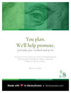 """LibraryAware makes it so easy to promote your financial themed programs. Search Flyer-Events for """"financial"""""""