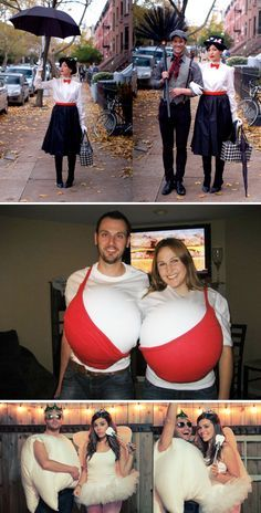 The 25 best couple costumes HALLOWEEN Man! I wanna go to a Halloween party! A costume party! Such fun ideas!