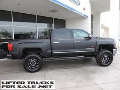 Lifted 2015 Chevy Silverado 1500 LTZ Matte Black SC Black Widow