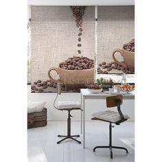 ESTORES ENROLLABLES CUP OF COFFEE ZEBRA TEXTIL