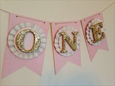 Baby Birthday Banner High Chair Banner First by LaCremeBoutique