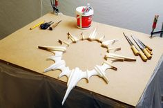 Working on sculpturing this wonderful mirror - in the making folks..!