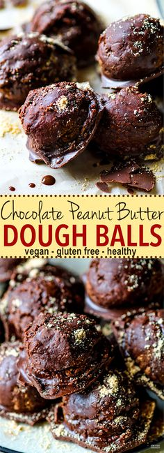 Vegan Chocolate Peanut Butter Dough Balls with Hidden Veggies