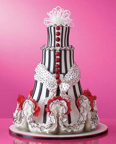 Colette's Cakes, New York City    Drawn to the flamboyant costumes and gowns of haute couturier Christian Lacroix, Colette Peters interpreted a can-can dancer in fondant. Cake with ruffles and royal icing bow. 15 dollars per slice, serves 100; colettescakes.com.    Photo: Antonis Achilleos