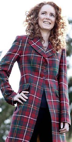 Women's Longline Tartan Jacket in Hay Modern Tartan