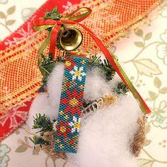 「BeadsMania」で取り扱う商品「クリスマス☆ストラップ(ポインセチア) S-41 【作家:Shinon あわいしのぶ】」の紹介・購入ページ