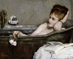 The Bath, c.1867 (oil on canvas) by Alfred George Stevens (1817-75)