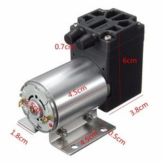 19.99$  Buy now - http://aliuy8.shopchina.info/go.php?t=32707895755 - Brand New DC12V 6W 65-120kpa Micro Vacuum Pump Negative Pressure Suction Pump Motor Drive 500mA Newest  #magazine