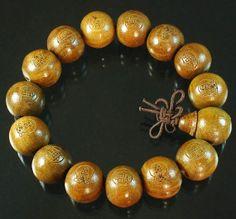 Tibetan Natural Sandalwood Wood Beads Buddhist Buddhism Buddha Prayer Stretchy Mala Bracelet DI710 by AnneJewelryAcc, $3.47
