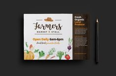 Farmers Market Flyer Template by BrandPacks on @creativemarket