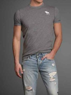 Abercrombie and Fitch Mens Muscle Fit T-Shirt Boulder Brook Large New $27.65