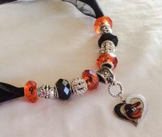 Baltimore ORIOLES inspired Necklace by SWANKEE on Etsy
