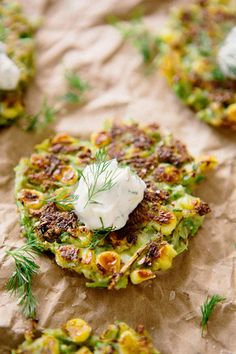 7 So-Healthy Recipes For Warmer Months Ahead - http://www.refinery29.com/best-spring-recipes#slide9 Corn and Asparagus Cakes