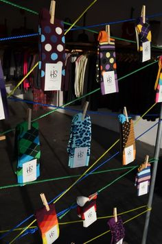 Happy Socks pop-up is bound to spread smiles. With unique, bright products and a space to match, there is no doubt this brand does what it promises. #Socks #HappySocks #Retail