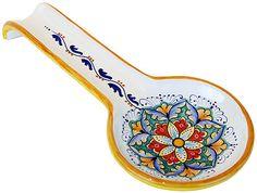 Deruta Italian ceramic spoon rest - vario style