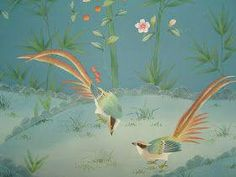 Alibaba wallpaper Definition of chinoiserie A style in art (as in decoration) reflecting Chinese qualities or motifs; also: an obje. Silk Wallpaper, Chinoiserie Wallpaper, Wood Wallpaper, Wallpaper Decor, Animal Wallpaper, Textured Wallpaper, Home Decor Colors, Graphic Design Art, Beautiful Birds