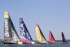 May 17, 2015. Start of the Volvo Ocean Race Leg 7 to Lisbon from Newport. Fleet Billie Weiss / Volvo Ocean Race