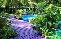 Purple Porch Paradise