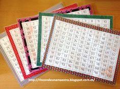 Rincón de una maestra: Jugamos con los números hasta el 100