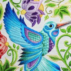 Feathers make an awesome subject for hand embroidery, whether they are realistically interpreted in stitches or worked into stylized designs.
