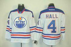 Edmonton Oilers 4 Taylor Hall white Jerseys