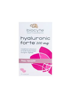 Biocyte is the French market leader in high-end beauty and anti-aging dietary supplements, which French women consume in extraordinary quantities — and Hyaluronic Forte is the star product in the line. It's suitable for use from the moment you begin to see signs of aging in your skin. These tablets are made with a plant-based form of hyaluronic acid in a high concentration that helps stimulate the synthesis of collagen and elastin from the inside out. Clinical tests have s...