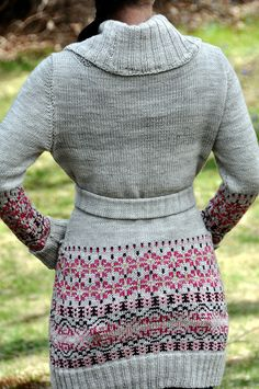 This chick is amazingly talented!  Hand knit cardigan, love it
