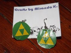 Zelda Duct Tape Earrings only $5!