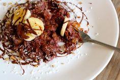 Dark Chocolate Coconut Banana Vegan Matzah Brei | 26 Delicious Ways To Serve Matzah This Passover