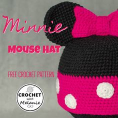 Excellent Absolutely Free Crochet Hat disney Popular Beanies are classified as the bane associated with my own existence. Ok, that could be your tad hard Crochet Adult Hat, Crochet Geek, Crochet Beanie Pattern, Crochet Kids Hats, Free Crochet, Crochet Ideas, Disney Crochet Patterns, Crochet Disney, Crochet Minnie Mouse Hat