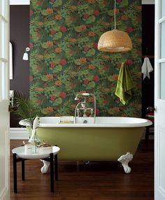 Une salle de bains aux couleurs de la jungle