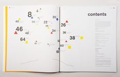 Interesting contents page layout