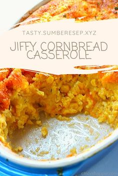 This Jiffy Cornbread Casserole is an easy side dish for your Thanksgiving or every day meals. I like to describe it as a gooey cheese cornbread. Jiffy Cornbread, Cornbread Casserole, Casserole Dishes, Casserole Recipes, Corn Casserole Jiffy, Spinach Casserole, Cornbread Recipes, Rock Crock Recipes, Cooking Recipes